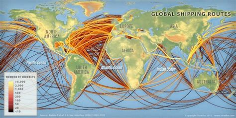 map   day global shipping routes diverging markets