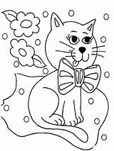 Coloring Pages Cats Animals Cat Printable sketch template