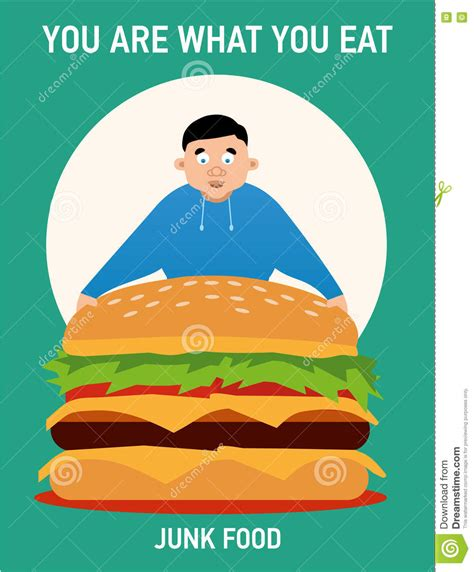 you cuisines you are what you eat illustration junk food stock
