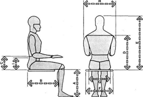 muebles domoticos medidas para dise 209 ar sillas o asientos