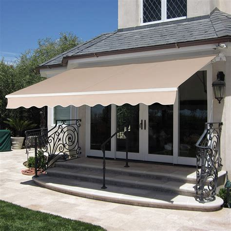 mcombo mcombo  ft patio awning retractable manual commercial grade quality