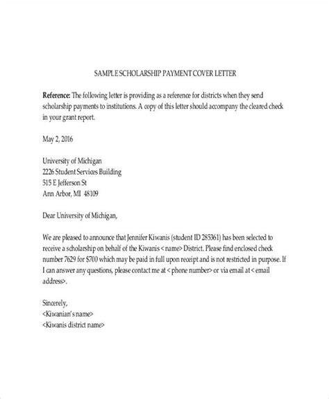 scholarship letter template   sample