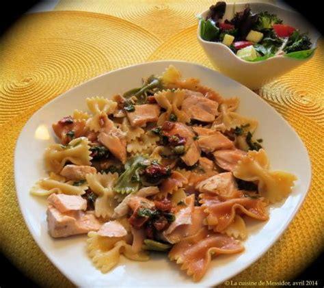 p 226 tes au saumon frais sauce m 233 diterran 233 enne de messidor recettes