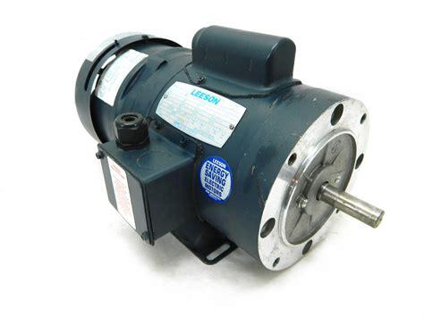Electric Motor Brake by Leeson 111950 00 Electric Brake Motor 0 5 Hp 1725 Rpm 115