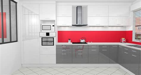 cuisine blanche carrelage gris cuisine cuisine grise et blanche photos carabi cuisine