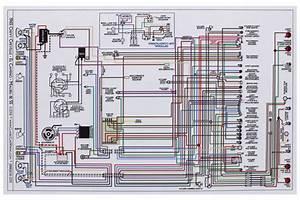 Factory Wiring Diagram  Full Color Fits 1965 El Camino