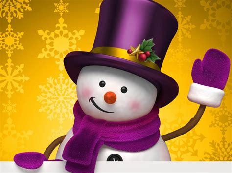 aesthetic cute snowman christmas hd computer wallpaper