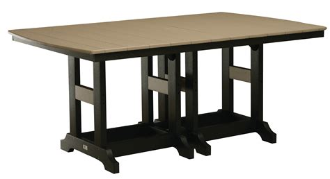 44 quot x 72 quot rectangle dining table bar height