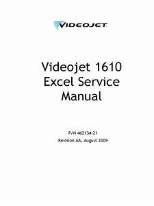 Videojet Excel 170i Manual