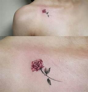 Rosen Tattoo Klein : for bernadette and sarah l pinterest tattoos rose tattoos ve small tattoos ~ Frokenaadalensverden.com Haus und Dekorationen