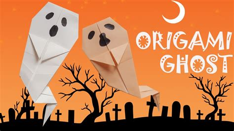 origami ghost origami halloween origami easy youtube