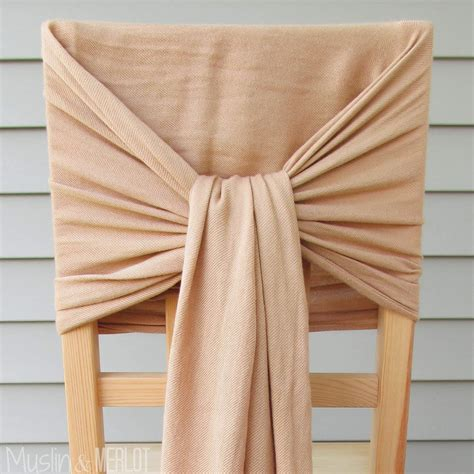how to decorate chairs with scarves muslin and merlot