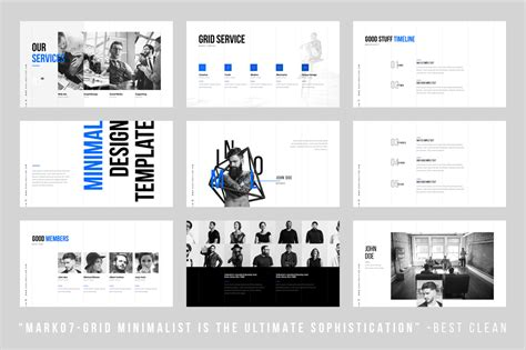 minimalist templates grids minimal powerpoint template by dublin design thehungryjpeg