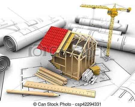 Construction Maison En 3d Cadre Maison Construction 3d Cadre Maison Illustration