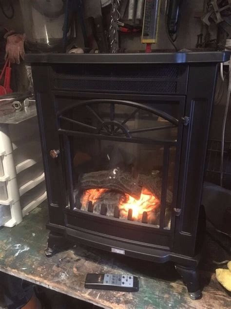bi flame  standing electric fire     model