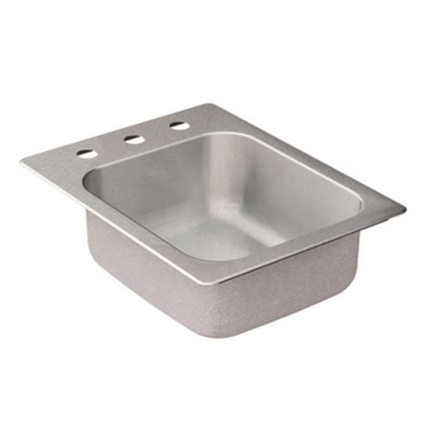 stainless steel single bowl drop in kitchen sinks moen 2000 series drop in stainless steel 17 in 3 9897