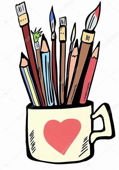 Brushes Pens Pencils Paint Cup Malen Stifte