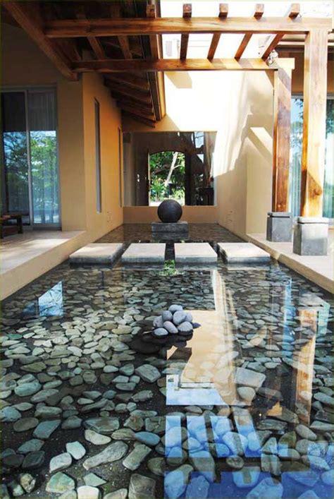 creative ideas  decorate  home  river rocks