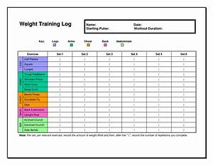 6 best images of workout chart template excel weight for Workout training plan template
