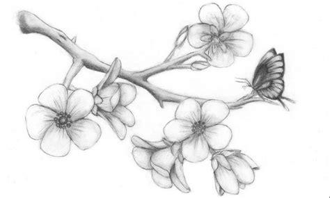 Flor de cerezo Tatuajes en forma de dibujos muy