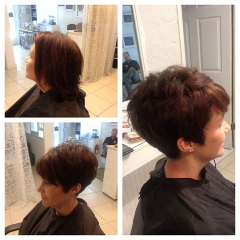 cute short hair  overperfect cut  thick coarse