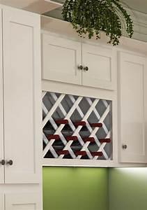 White Shaker Style Wall Wine Rack Dream Kitchens