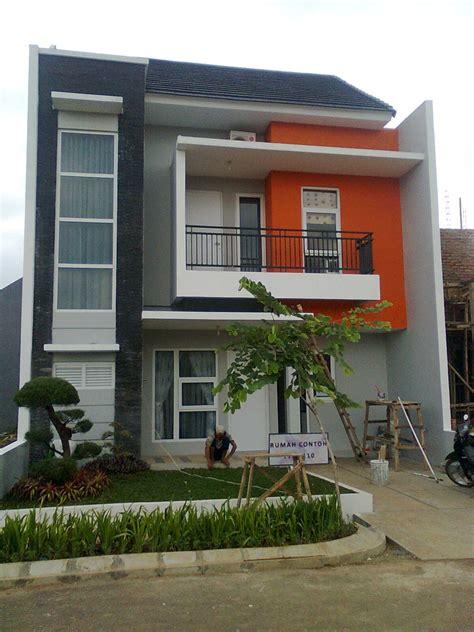 desain rumah dot perpaduan warna rumah minimalis abu abu