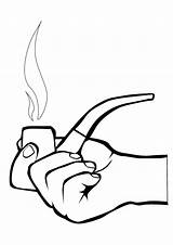 Coloring Smoking Pages Smoke Colouring Clipart Risks Clip sketch template