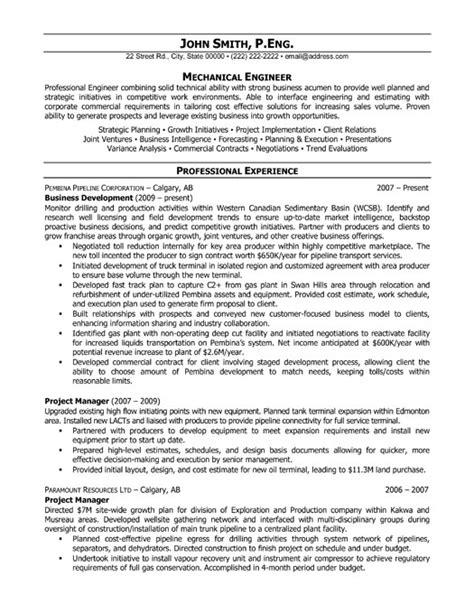 Resume For Project Engineer Mechanical by Project Manager Resume Template Premium Resume Sles Exle