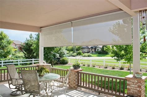 exterior roller shades contemporary deck other metro