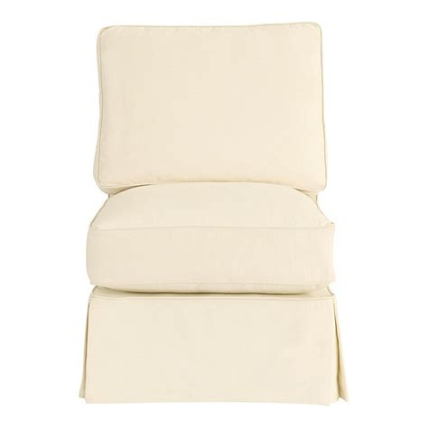 armless chair slipcover davenport armless chair slipcover special order