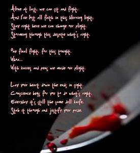 Black Veil Brid... Knife Song Quotes
