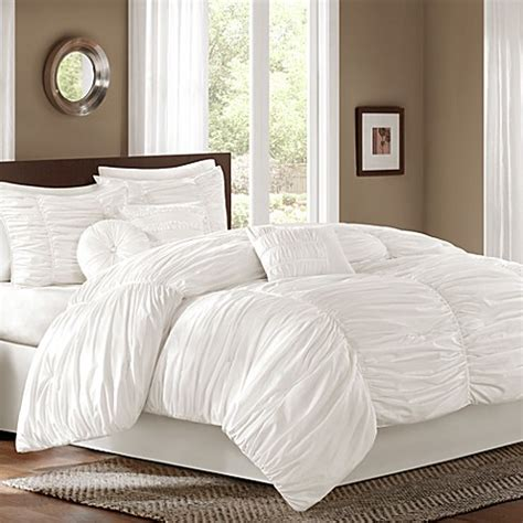 target kitchen island cart buy sidney 7 comforter set in white from bed