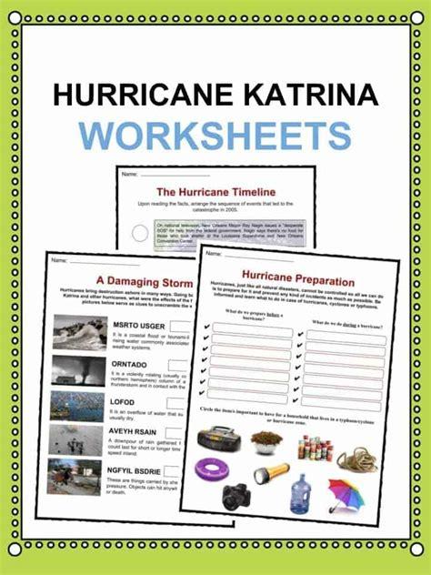 hurricane katrina facts worksheets information statistics for kids