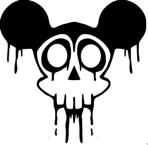 black drawing silhouette skull white cartoon public