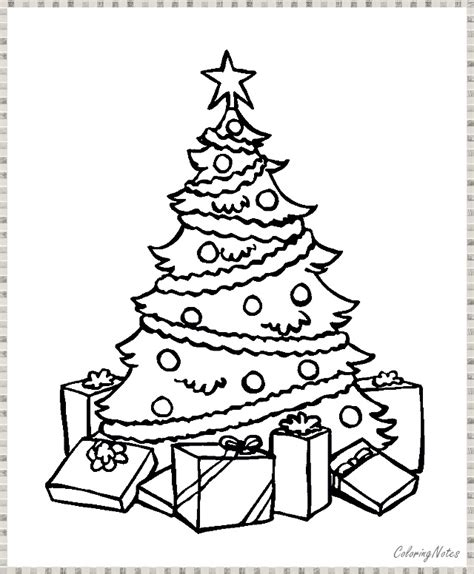 16 Easy Christmas Tree Coloring Pages Free Printable for ...