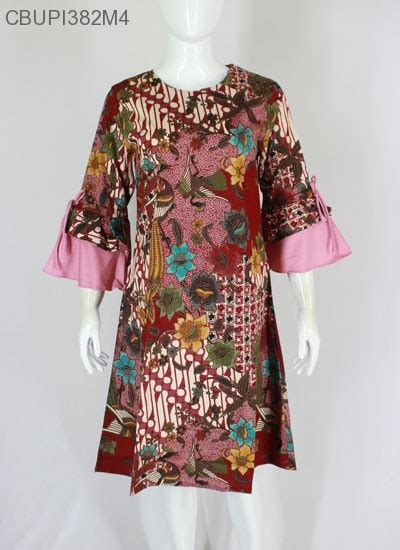 dress raisa batik katun stretch blus lengan tanggung