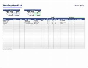 create a wedding guest list template for excel to track With wedding invitation rsvp spreadsheet