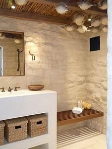 salle de bain style marin 11 idees pour vous inspirer With salle de bain design avec décoration thème de la mer