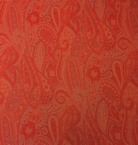 outdura tangerine orange floral paisley outdoor