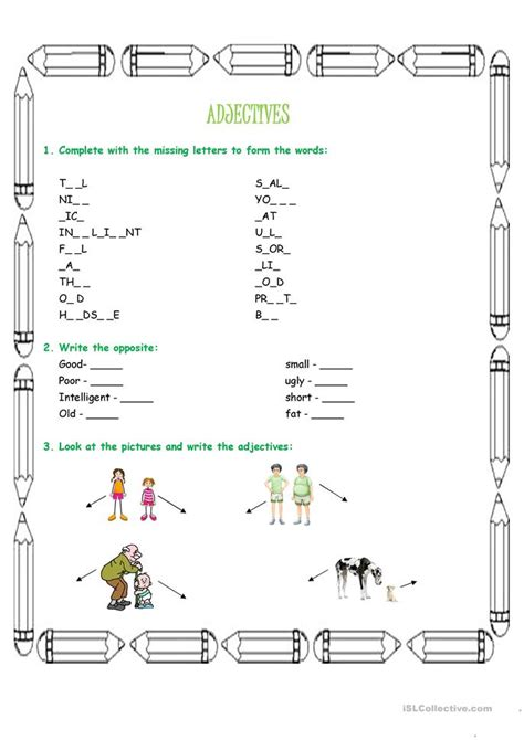 adjectives worksheet free esl printable worksheets made