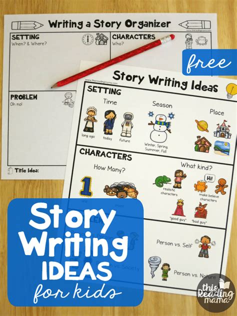 story writing ideas for free pack this reading