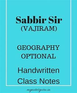 Sabbir Sir (Vajiram) – Geography Optional – Handwritten ...