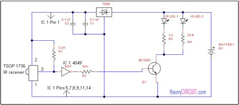 Remote Control Extender Circuit