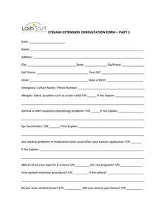 Client Consultation Form Cretdecor Pinterest Salons Salon Marketing And Nails
