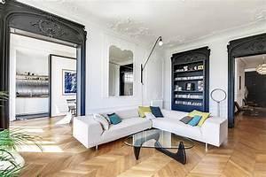 Décoration Appartement Moderne : d coration moderne appartement haussmanien ~ Nature-et-papiers.com Idées de Décoration