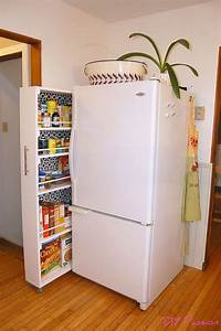 DIY space saving rolling kitchen pantry