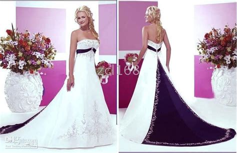 White/ivory Wedding Dresses Bridal Gown Color(purple, Navy