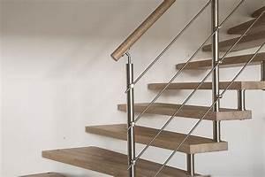 Rampe D Escalier Moderne : rampe d 39 escalier en bois en ch ne blanchi et inox rampe rambarde retrouvez tous nos garde corps ~ Melissatoandfro.com Idées de Décoration