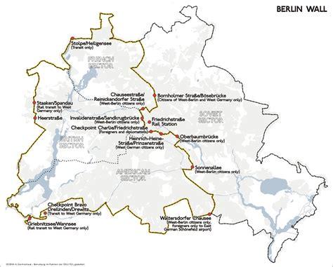 map of berlin wall location